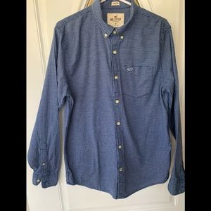 Hollister Stretch Button Down Checked  Shirt
